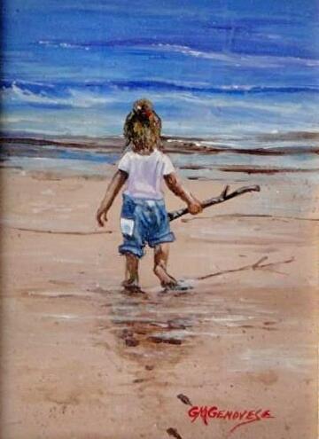 Beach Baby by Gigi Genovese  ~ 5 x 7