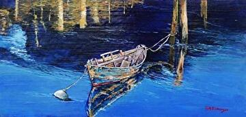 Moored by Gigi Genovese Acrylic ~ 10 x 20