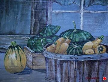 summer squash by Gigi Genovese Acrylic ~ 11 x 14