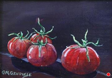 red and ripe by Gigi Genovese Acrylic ~ 5 x 7