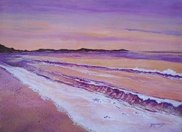 Sherbet Shores by Gigi Genovese Acrylic ~ 18 x 24