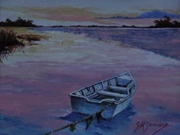 Sunset Cove by Gigi Genovese Acrylic ~ 8 x 10