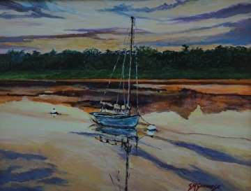 Day's End Reflections by Gigi Genovese Acrylic ~ 11 x 14