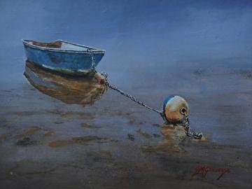 Blue Buoy by Gigi Genovese Acrylic ~ 11 x 14