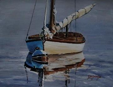 Rippled Reflections by Gigi Genovese Acrylic ~ 11 x 14