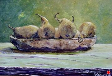 Pears by Gigi Genovese Acrylic ~ 8 x 10