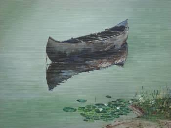 Stillwaters Canoe by Gigi Genovese Acrylic ~ 20 x 16