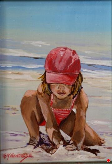 Sandplay by Gigi Genovese Acrylic ~ 5 x 7
