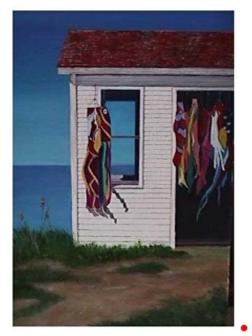 Kites by the Sea by Gigi Genovese Acrylic ~ 24 x 18