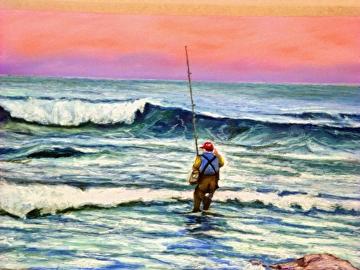 Surfcasting by Gigi Genovese Pastel ~ 20 x 16