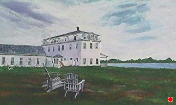 On the lawn of the Narragansett by Gigi Genovese Acrylic ~ 16 x 24