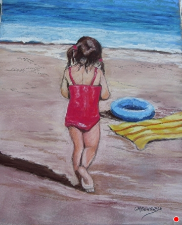Contemplation by Gigi Genovese Pastel ~ 11 x 14