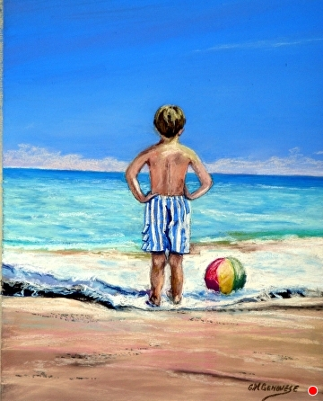 Looking out to sea by Gigi Genovese Pastel ~ 11 x 14