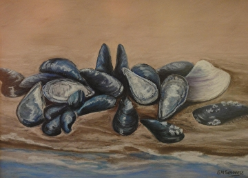 Mussel Beach by Gigi Genovese Pastel ~ 16 x 20