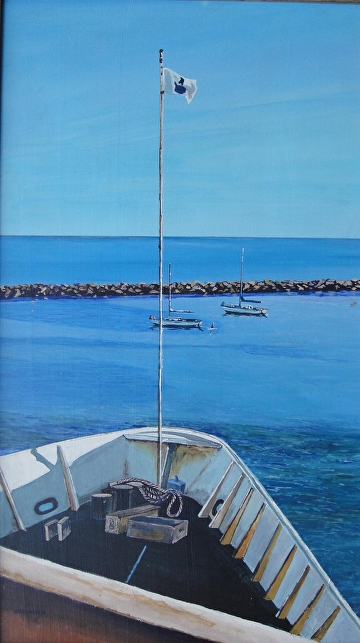 Starboard Bow by Gigi Genovese Acrylic ~ 15 x 26