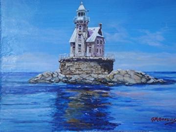 Race Rock Lighthouse by Gigi Genovese Acrylic ~ 11 x 14