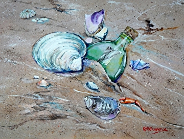 Message in a Bottle by Gigi Genovese Acrylic ~ 11 x 14