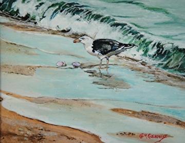 Seaside Luncheon by Gigi Genovese Acrylic ~ 8 x 10
