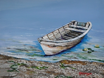 Ashore with the Tide by Gigi Genovese Acrylic ~ 11 x 14