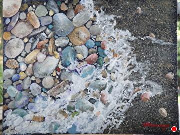 surf melody by Gigi Genovese Acrylic ~ 11 x 14