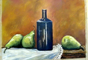 Wine and Pears by Gigi Genovese Pastel ~ 20 x 16