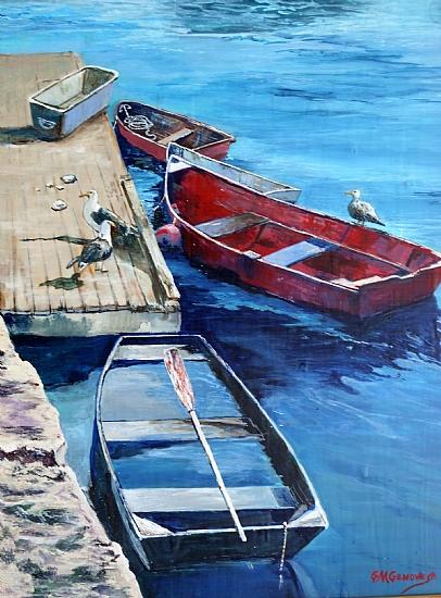 Dockside Visitors by Gigi Genovese Acrylic ~ 16 x 20