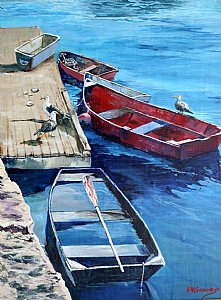 Dockside Visitors by Gigi Genovese Acrylic ~ 16 x 20