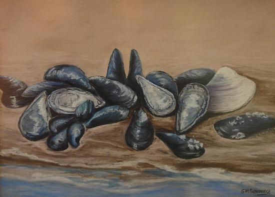 Mussel Beach by Gigi Genovese Pastel ~ 16 x 20