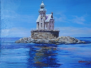 Race Rock Lighthouse by Gigi Genovese Acrylic ~ 11 x 14