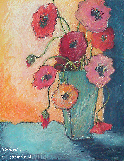 Flowers for Miss Caroline - Pastel