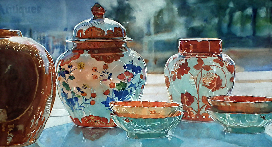 Antiques - Watercolor