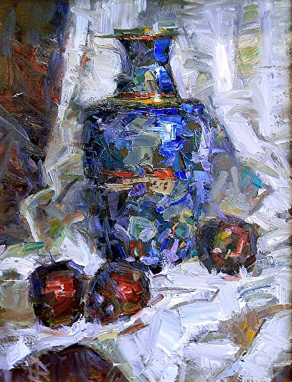 Red Delicious and Blue - Oil