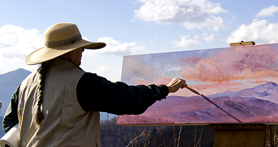 Jo Painting Cold Mountain, Nov. 12, 2014 -