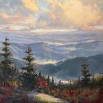 Jo Ridge Kelley - Spring in the Blue Ridge Mountains - en plein air