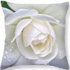 White Rose and Raindrops Throw Pillow, Fine Art America