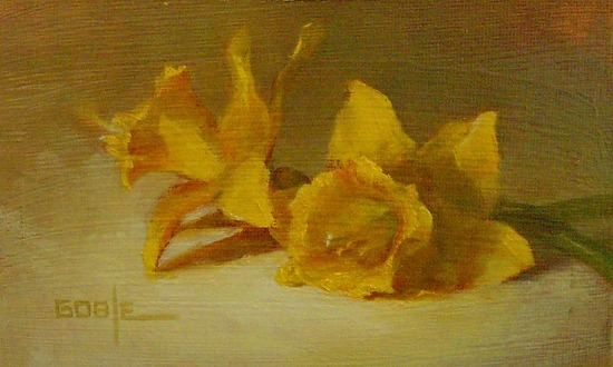 Daffodils by Ann Goble Oil ~  x