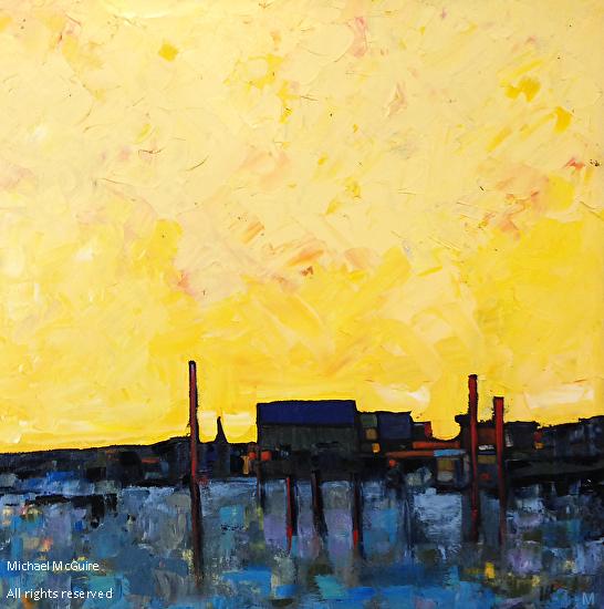 Pier 3 - Oil on canvas
