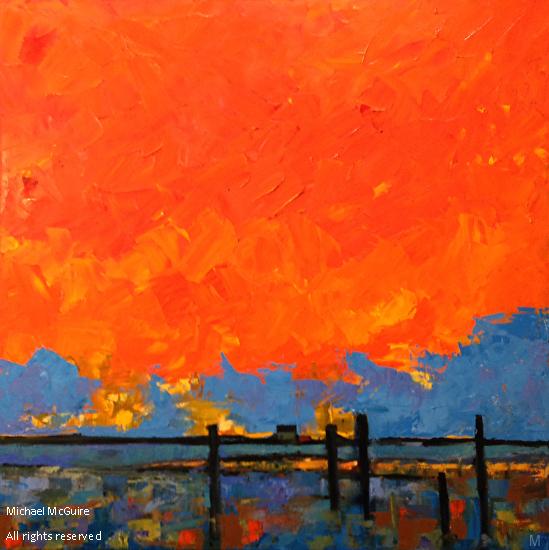 Sunset 2 - Oil on canvas