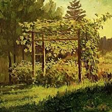 Grape Garden by Nikolay Mikushkin Oil ~ 24in x 24in
