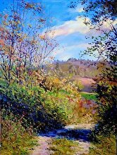 Shadows of The Fall by Nikolay Mikushkin Oil ~ 21 x 28