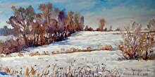 First Snow by Nikolay Mikushkin Oil ~ 10 x 20