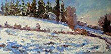 Cold Snow by Nikolay Mikushkin Oil ~ 10 x 20
