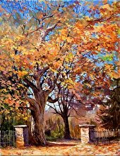 October Gates by Nikolay Mikushkin Oil ~ 22 x 28