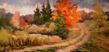 Jordanville Sketches No.2 by Nikolay Mikushkin Oil ~ 10 x 20