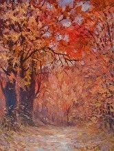 Foliage by Nikolay Mikushkin Oil ~ 26 x 20