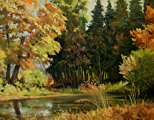 Autumn Lake by Nikolay Mikushkin Oil ~ 24 x 30
