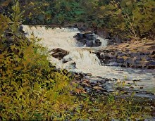 St. Regis Falls by Nikolay Mikushkin Oil ~ 22 x 28