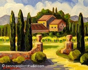 Villa Sonoma (#38) by Penny Popken Oil ~ 11 x 14