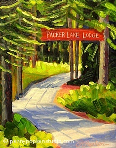 Welcome to Packer Lake (#51) by Penny Popken Oil ~ 11 x 14