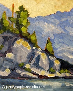 The Big Rock (#55) by Penny Popken Oil ~ 8 x 10
